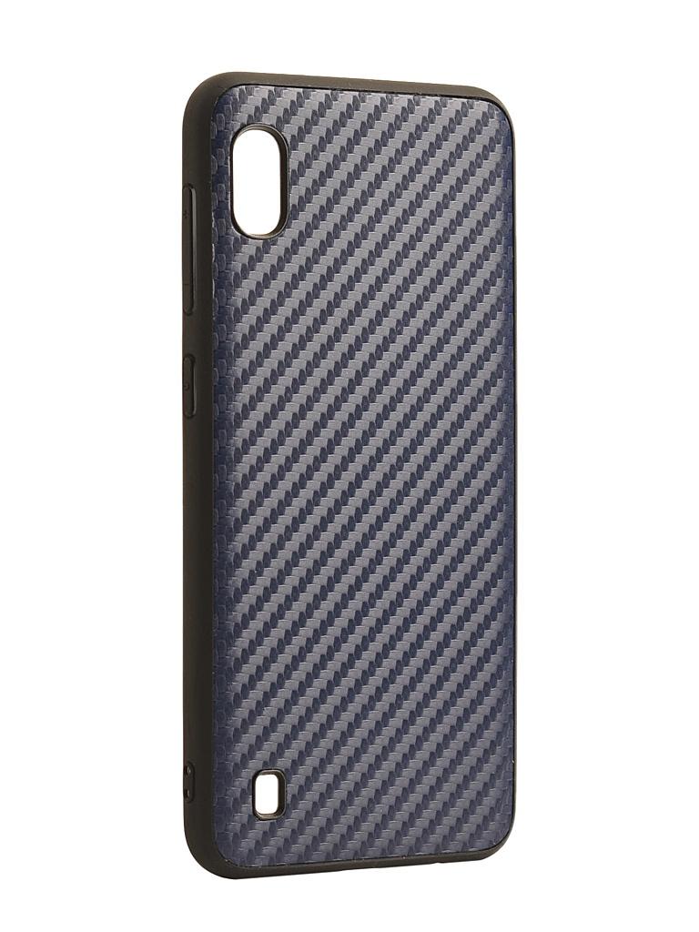 Аксессуар Чехол G-Case для Samsung Galaxy A10 SM-A105F Carbon Dark Blue GG-1106
