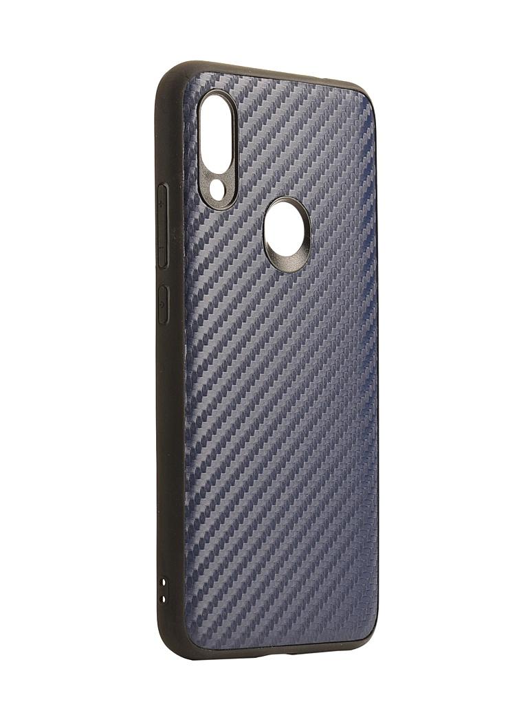 Аксессуар Накладка G-Case для Xiaomi Redmi 7 Carbon Dark Blue GG-1079