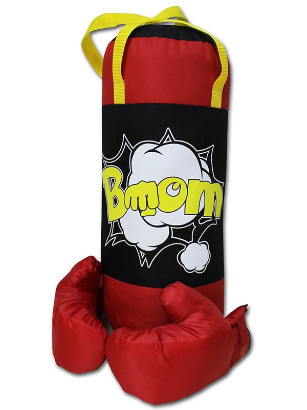 Набор для бокса Belon Груша с перчатками Black-Red BOOM НБ-002-ЧКр/ПР1