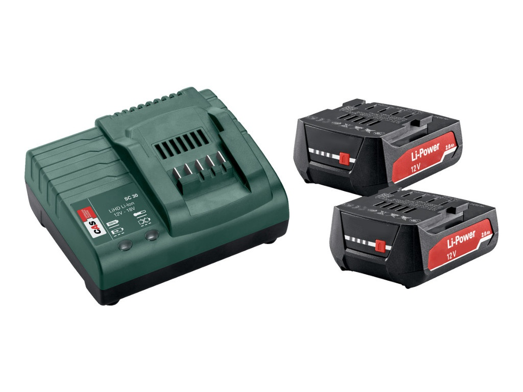 Metabo Basic-Set 2 x Li-Power 12V 2.0Ah + ЗУ SC30 685300000