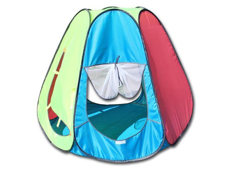 Палатка Belon Радужный домик Pink-Light Blue ПИ-006-ТФ4