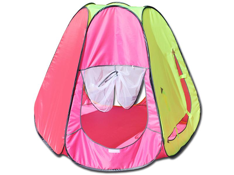 Палатка Belon Радужный домик Pink-Yellow ПИ-006-ТФ3
