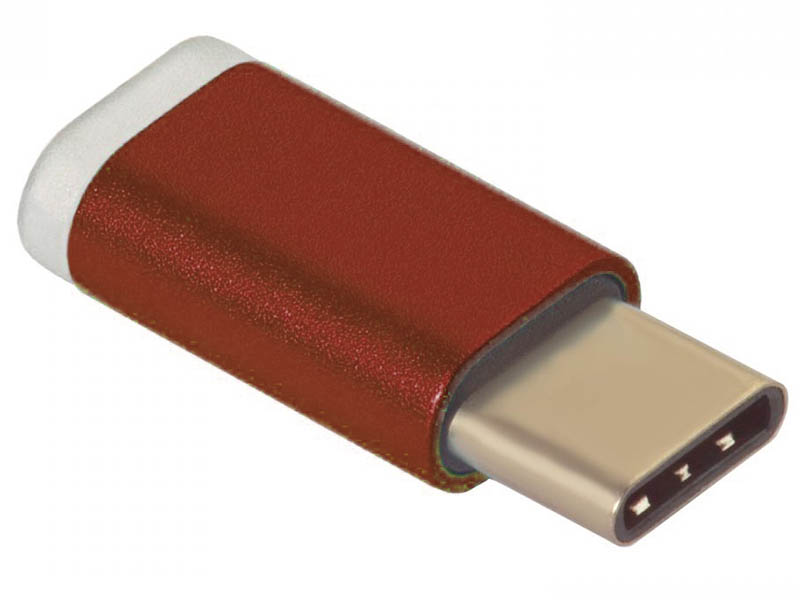 Аксессуар Greenconnect USB Type-C to MicroUSB 2.0 M/F Red GCR-UC3U2MF-Red