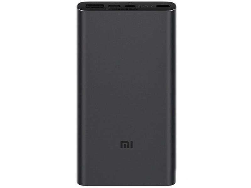 Внешний аккумулятор Xiaomi Mi Power Bank 3 10000mAh Black for Lightning Phones Выгодный набор + серт. 200Р!!! внешний аккумулятор xiaomi zmi power bank qb810 10000mah tiffany for lightning phones выгодный набор серт 200р