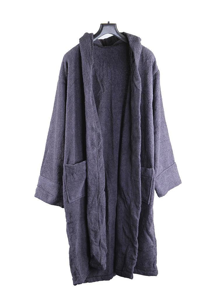 Халат Бацькина баня с капюшоном р.50-54 Grey 14138