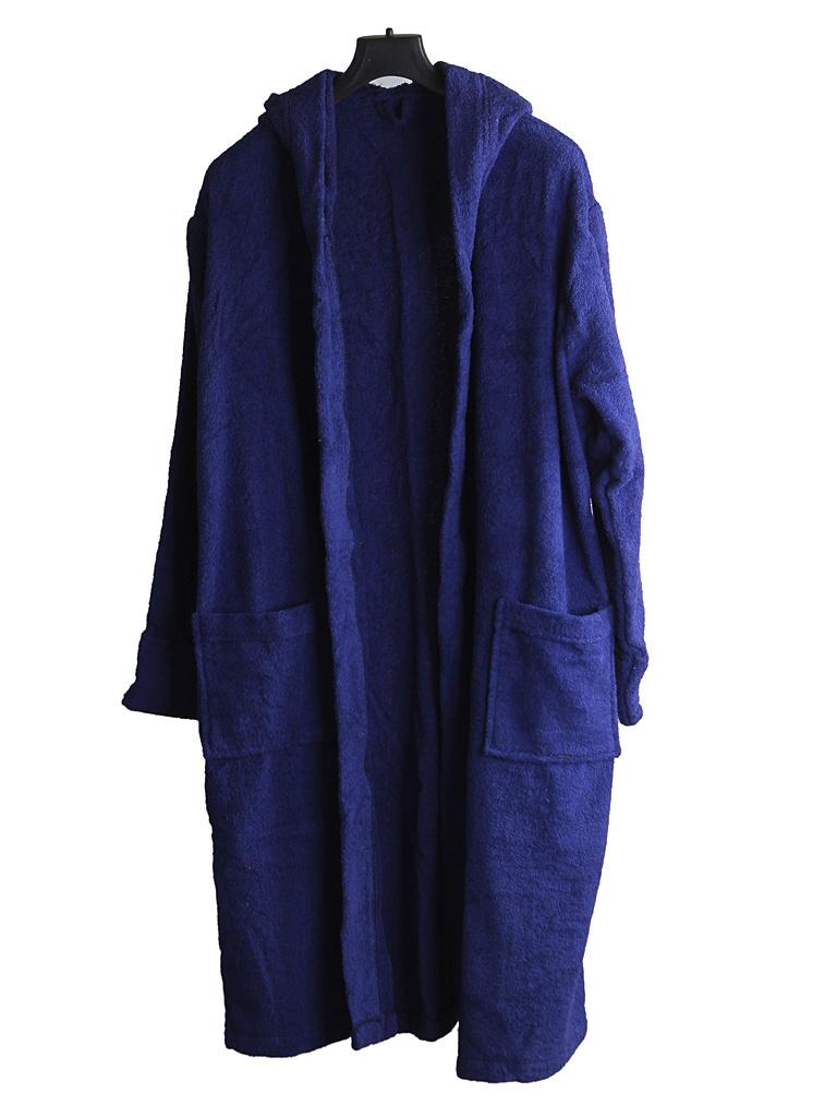 Халат Бацькина баня с капюшоном р.46-50 Dark Blue 14139