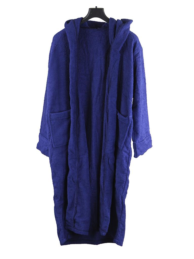 Халат Бацькина баня с капюшоном р.50-54 Dark Blue 14140