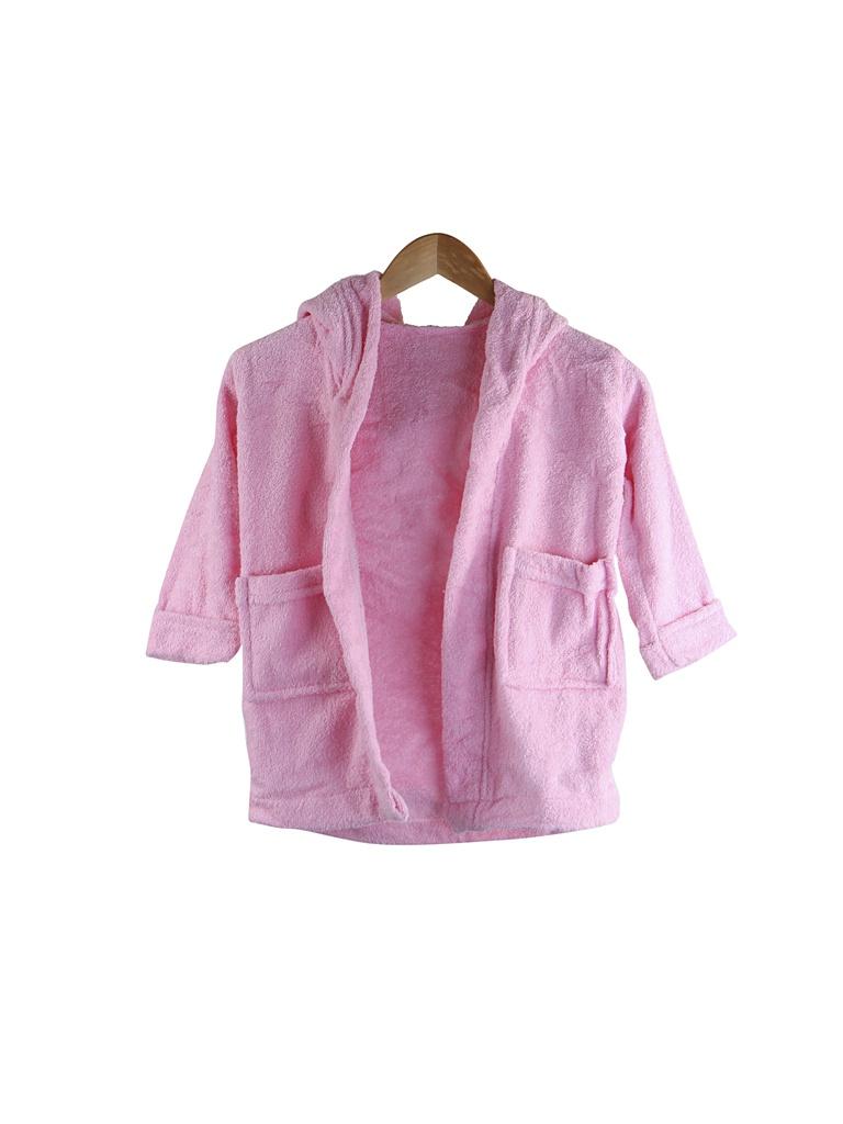 Халат Бацькина баня Юниор с капюшоном 1.5-3 года Pink 14141