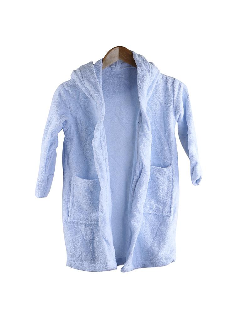 Халат Бацькина баня Юниор с капюшоном 7-9 лет Light Blue 14147