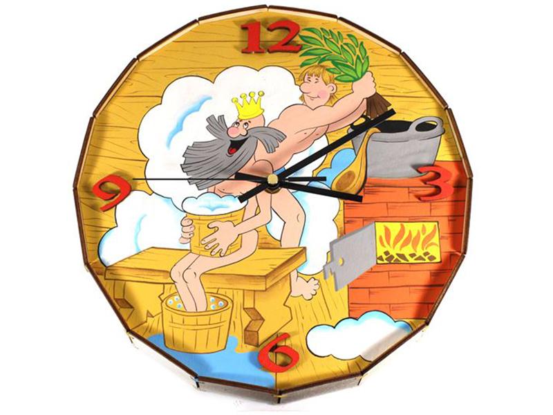 Часы Бацькина баня Бочонок 30606