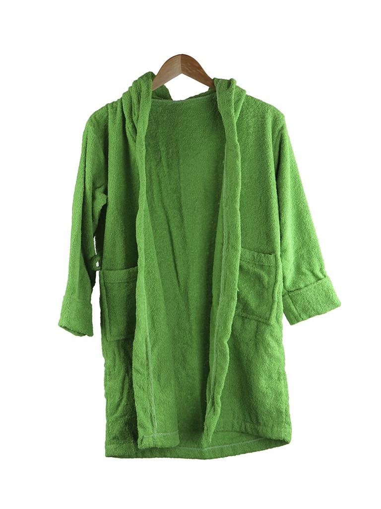 Халат Бацькина баня Юниор с капюшоном 9-12 лет Light Green 14152