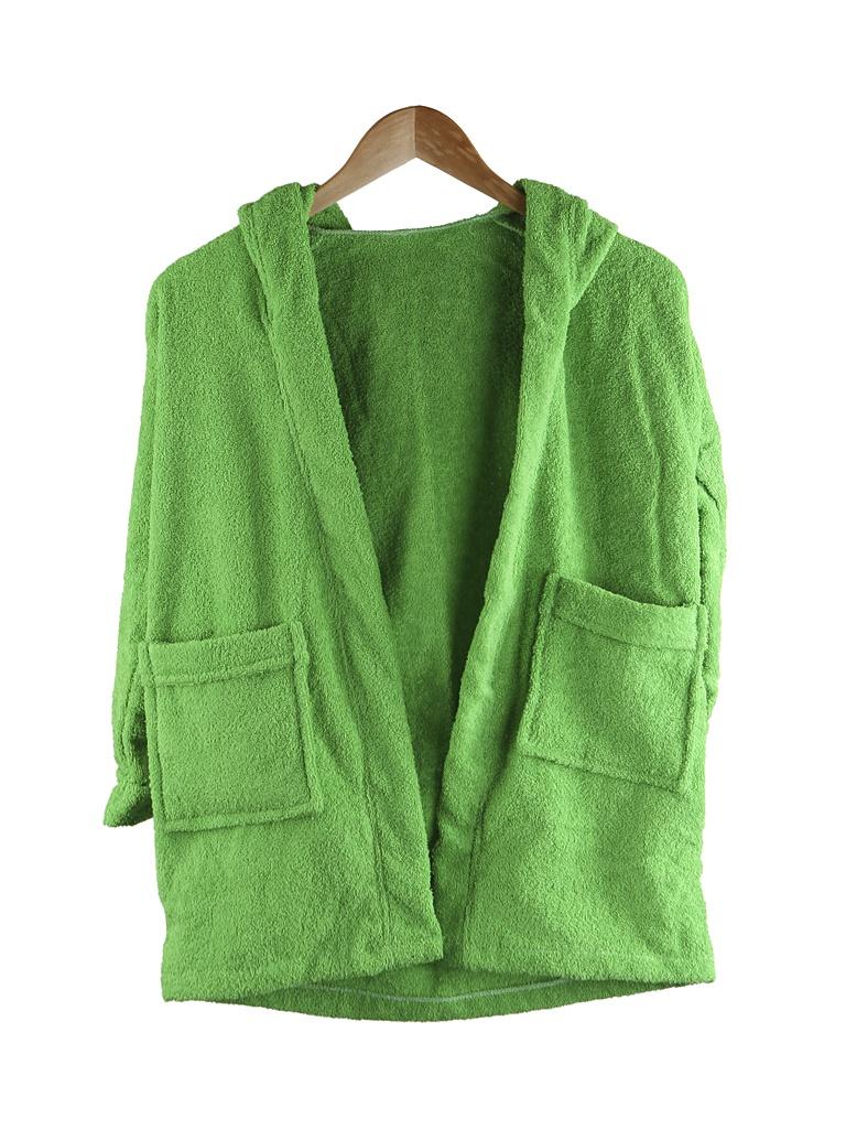 Халат Бацькина баня Юниор с капюшоном 3-6 лет Light Green 14150