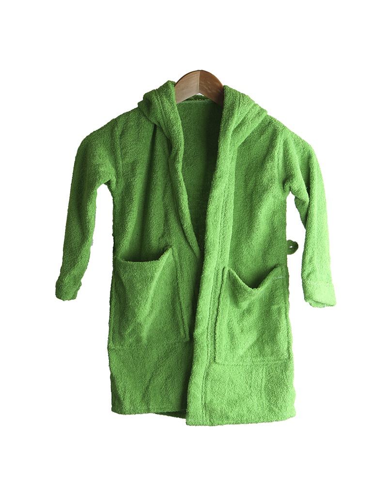 Халат Бацькина баня Юниор с капюшоном 1.5-3 года Light Green 14149