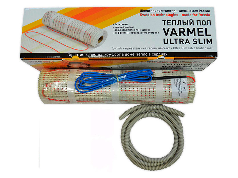 Теплый пол Varmel Ultra Slim Twin 0.5-75w 230v