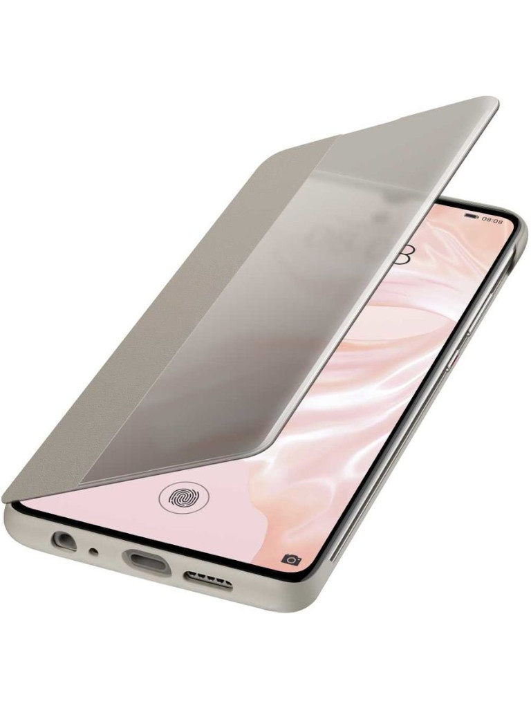 Аксессуар Чехол для Huawei P30 Smart View Flip Cover Khaki 51992864