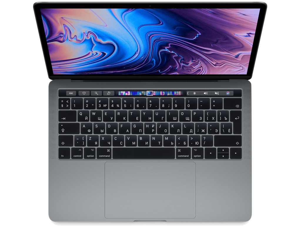 Ноутбук APPLE MacBook Pro 13 2019 MUHP2RU/A Space Grey (Intel Core i5 1.4 GHz/8192Mb/256Gb SSD/Intel Iris Plus Graphics/Wi-Fi/Bluetooth/Cam/13.3/Mac OS)