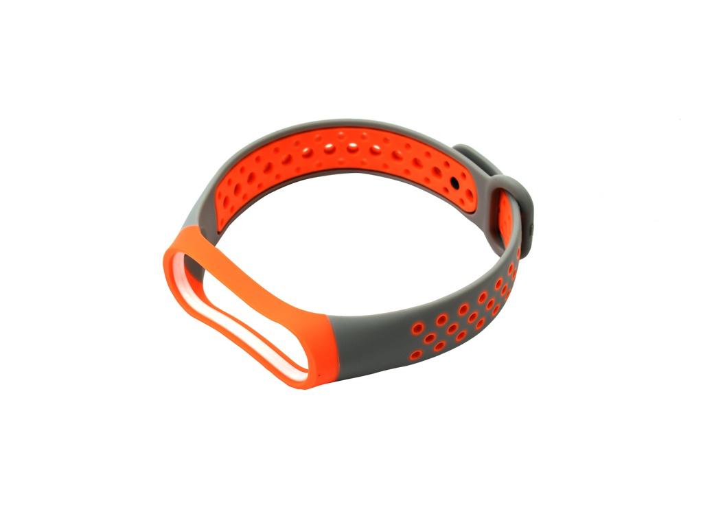 Aксессуар Ремешок Red Line for Xiaomi Mi Band 4 / 3 Grey-Orange УТ000018234