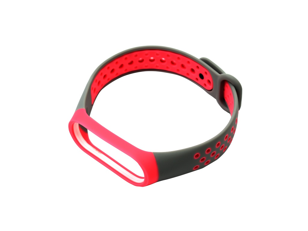 Aксессуар Ремешок Red Line for Xiaomi Mi Band 4 / 3 Grey-Pink УТ000018231