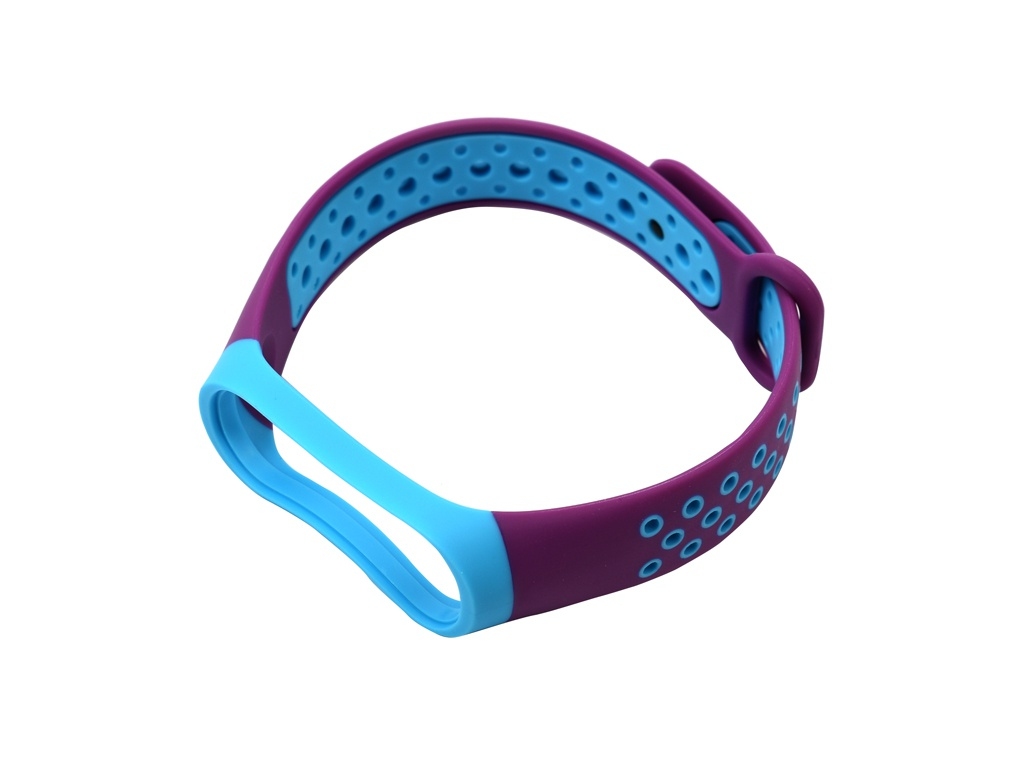 Aксессуар Ремешок Red Line for Xiaomi Mi Band 4 / 3 Violet-Light Blue УТ000018230