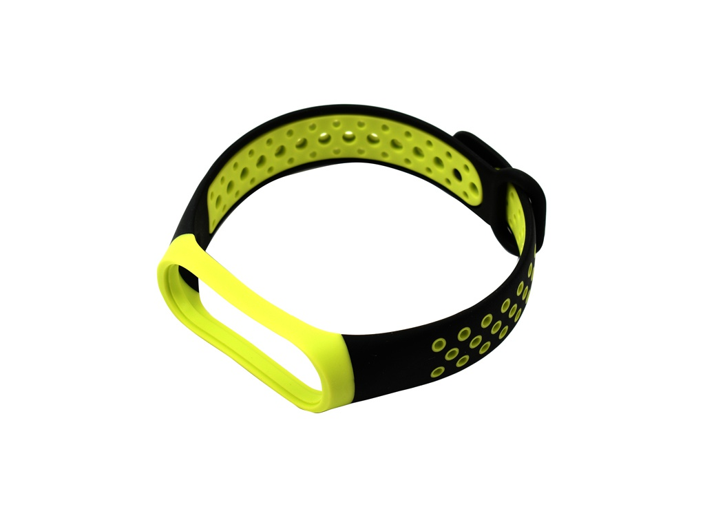 Aксессуар Ремешок Red Line for Xiaomi Mi Band 4 / 3 Black-Yellow УТ000018232