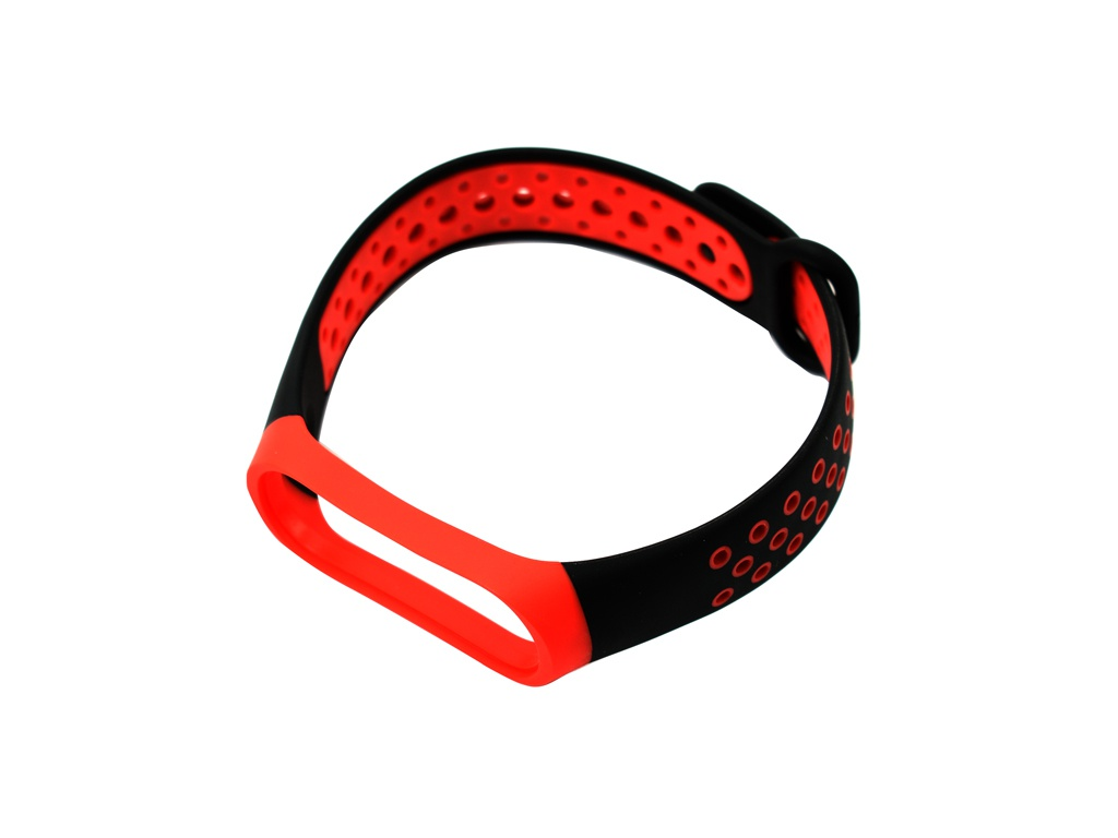 Aксессуар Ремешок Red Line for Xiaomi Mi Band 4 / 3 Black-Red УТ000018233