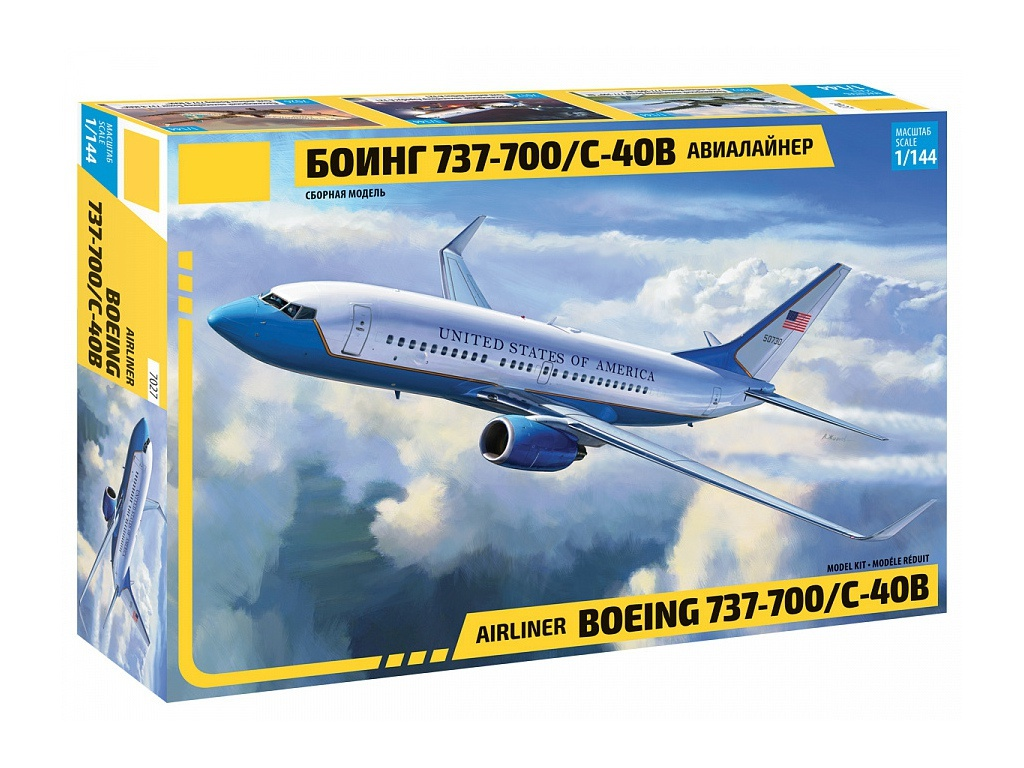 Сборная модель Zvezda Боинг 737-700 7027