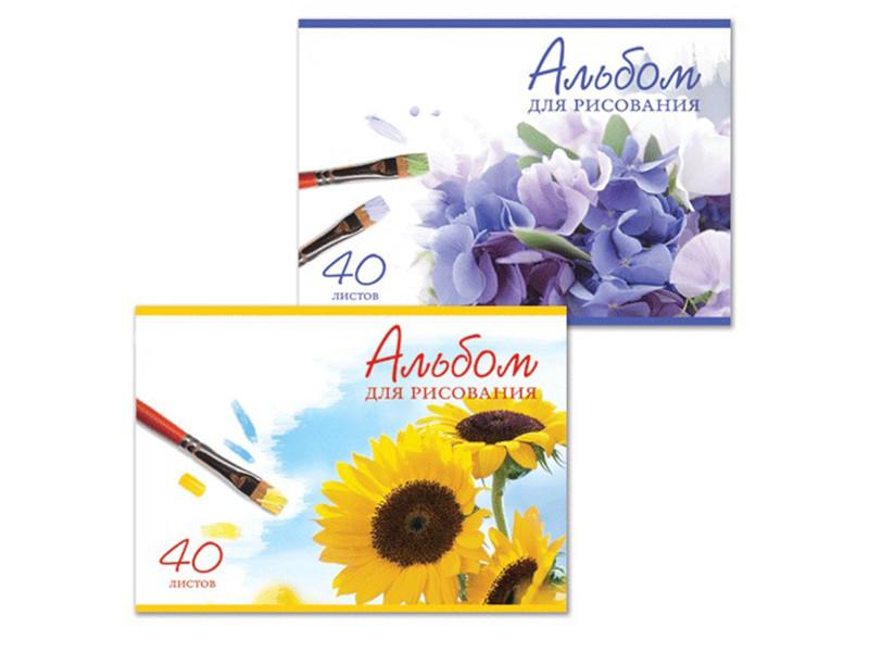 Альбом для рисования Brauberg Цветы A4 40 листов 102851