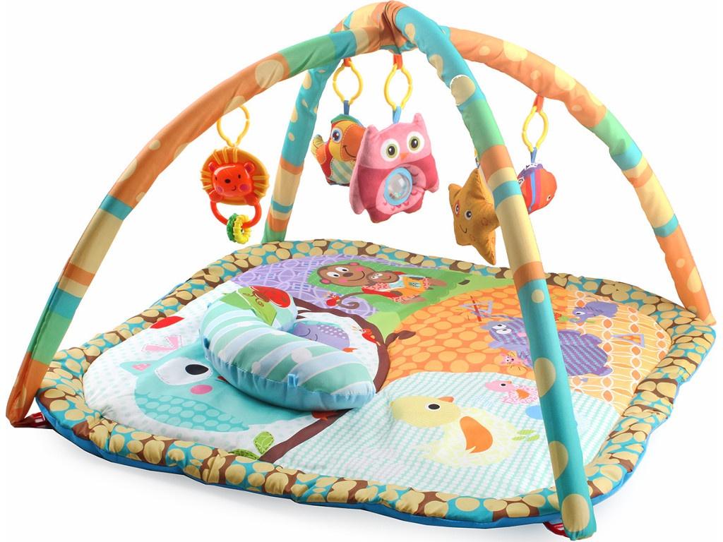 Развивающий коврик Ути Пути Совушка с подушкой 82x82x55cm 82446 ути пути развивающий коврик цветочная принцесса