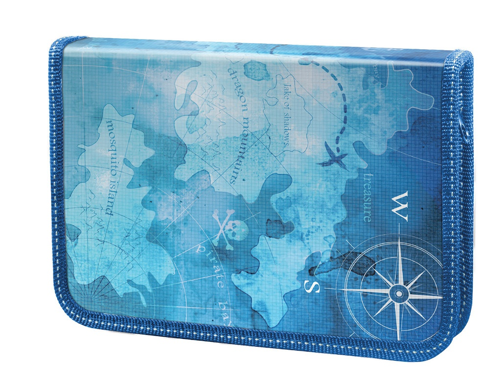 Пенал Brauberg Карта сокровищ 228252