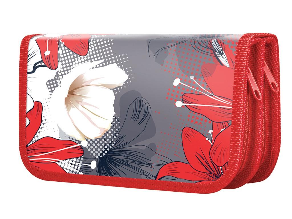 Пенал Brauberg Цветы 228098