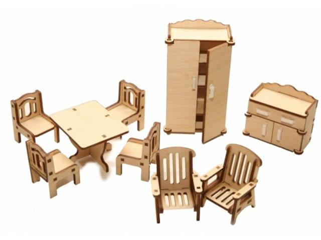 Сборная модель ХэппиДом Набор мебели Зал HK-M002