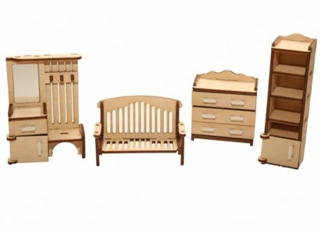 Сборная модель ХэппиДом Набор мебели Прихожая HK-M003