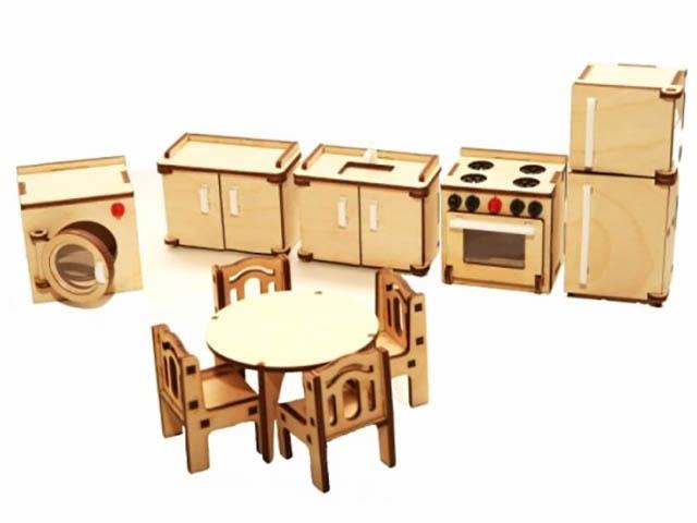 Сборная модель ХэппиДом Набор мебели Кухня HK-M004