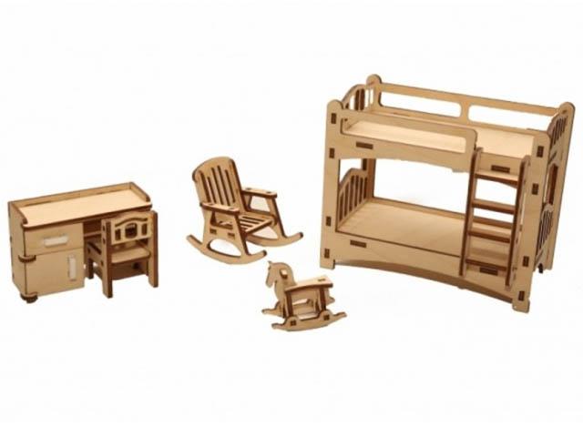 Сборная модель ХэппиДом Набор мебели Детская HK-M005