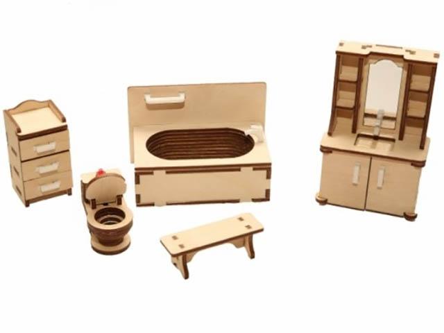 Сборная модель ХэппиДом Набор мебели Ванная HK-M006