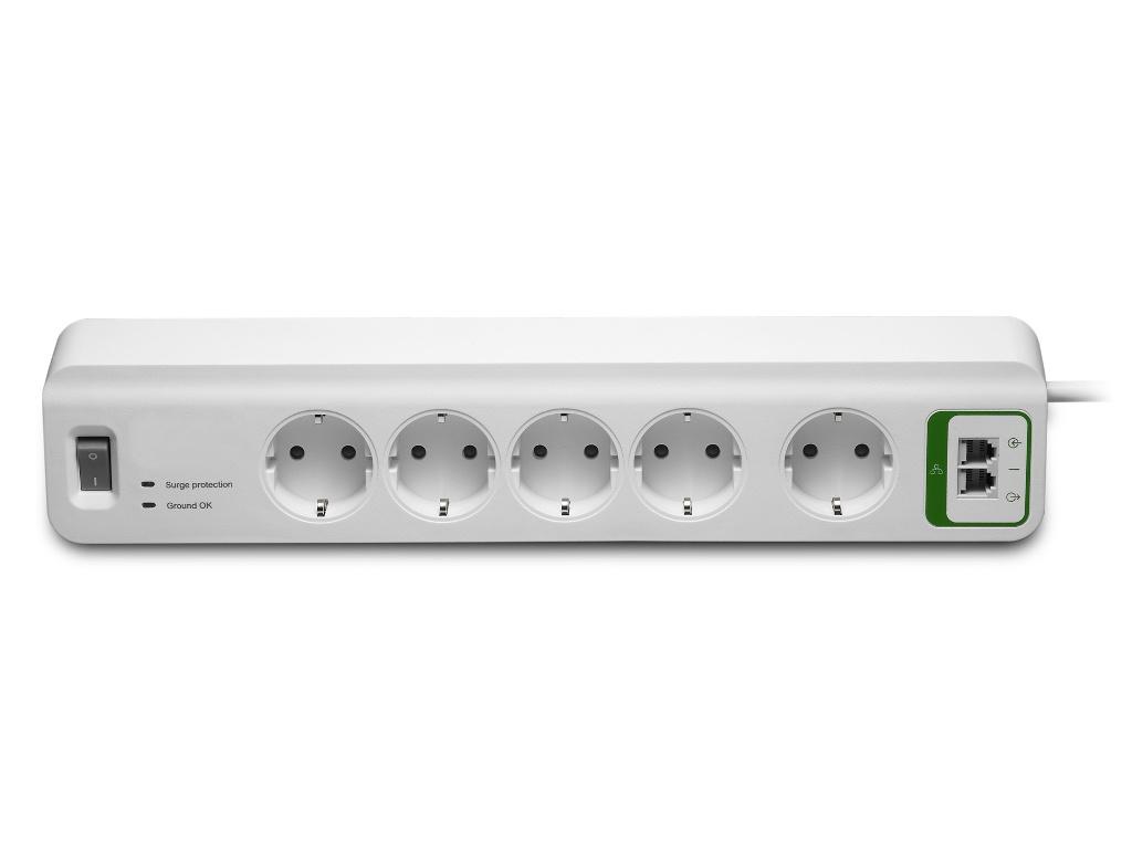 Сетевой фильтр APC Essential 5 Sockets 2xRJ-11 1.8m White PM5T-RS