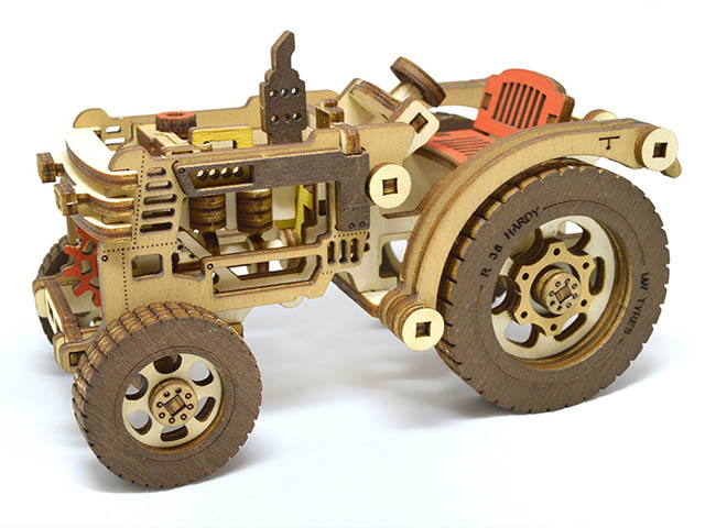 Сборная модель M-Wood Трактор с прицепом Hardy MW-402 трактор zhorya трактор с прицепом цвет в ассортименте в85782