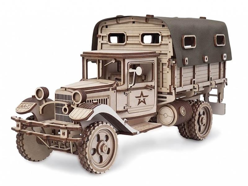 Сборная модель Армия России Грузовик Полуторка Тент AR-GAZ-T