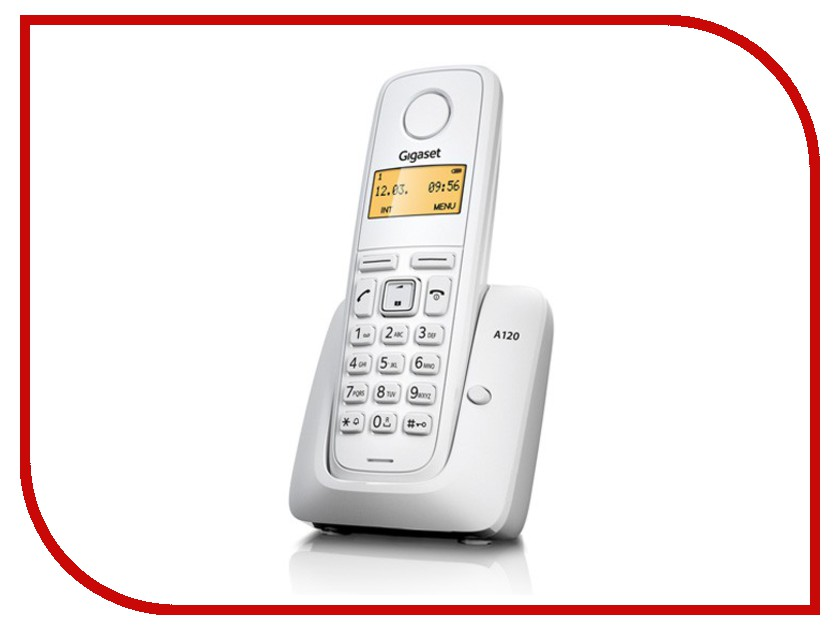 Радиотелефон Gigaset A120 White радиотелефон gigaset sl450 sys