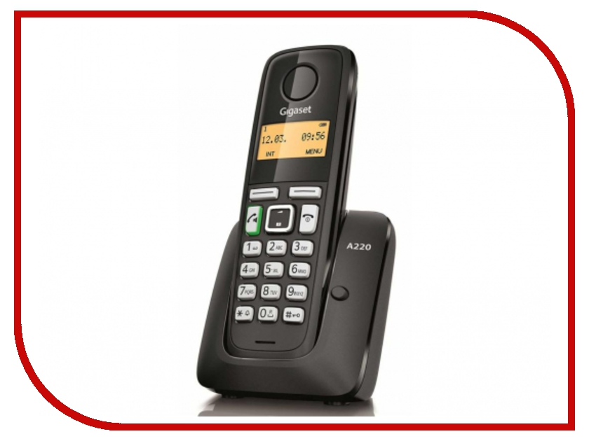 Фото Радиотелефон Gigaset A220 Black радиотелефон dect gigaset a220 белый