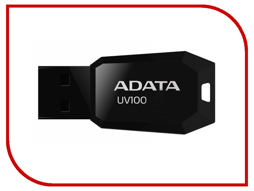 USB Flash Drive 16Gb - A-Data UV100 Classic Black AUV100-16G-RBK