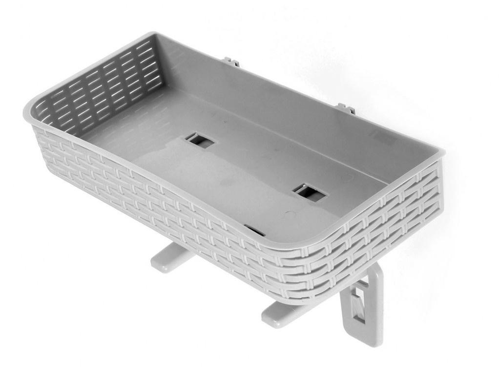 Полка для хранения Bradex плетеная 36x17x6cm Grey TD 0572