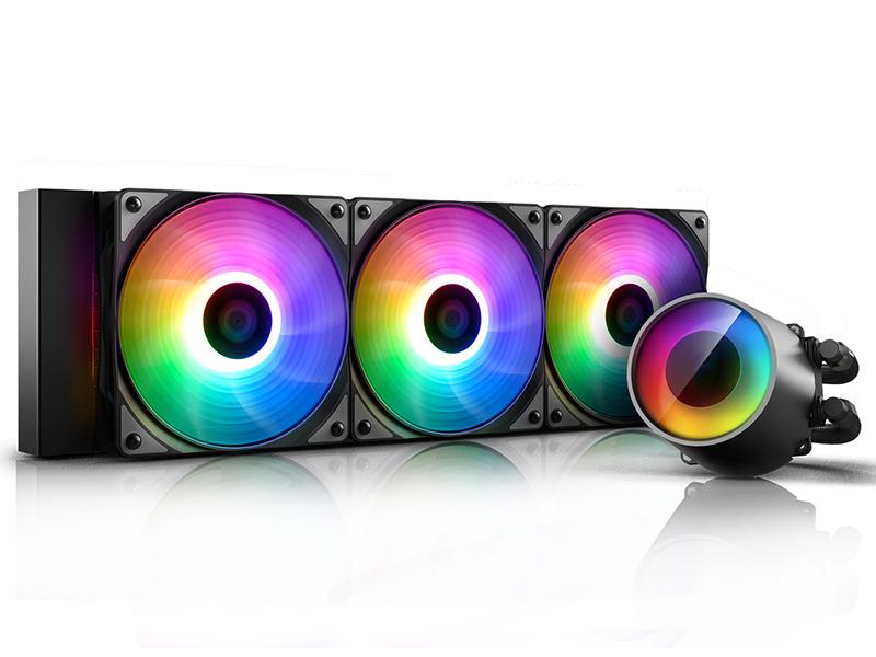 Водяное охлаждение DeepCool Castle 360RGB V2 (Intel LGA20XX/LGA1366/LGA115X AMD TR4/AM4/AM+/FM+)