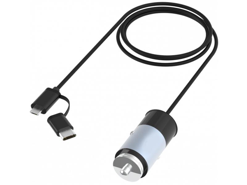 Зарядное устройство Ritmix RM-5240MC 1xUSB / MicroUSB USB Type-C 1m Gunshell