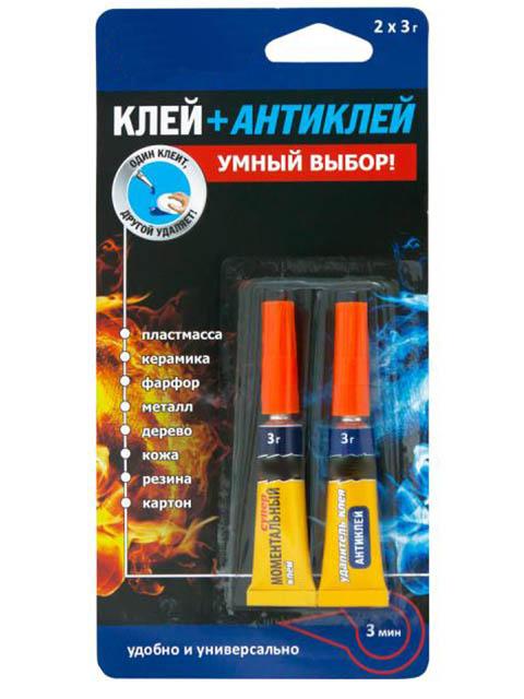 Клей Секунда Моментальный + Антиклей 2х3гр 403-214