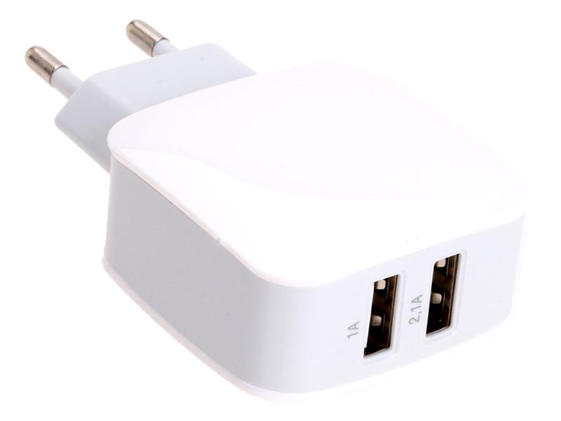 Зарядное устройство Exployd Prime 2хUSB 3.1A White EX-Z-347