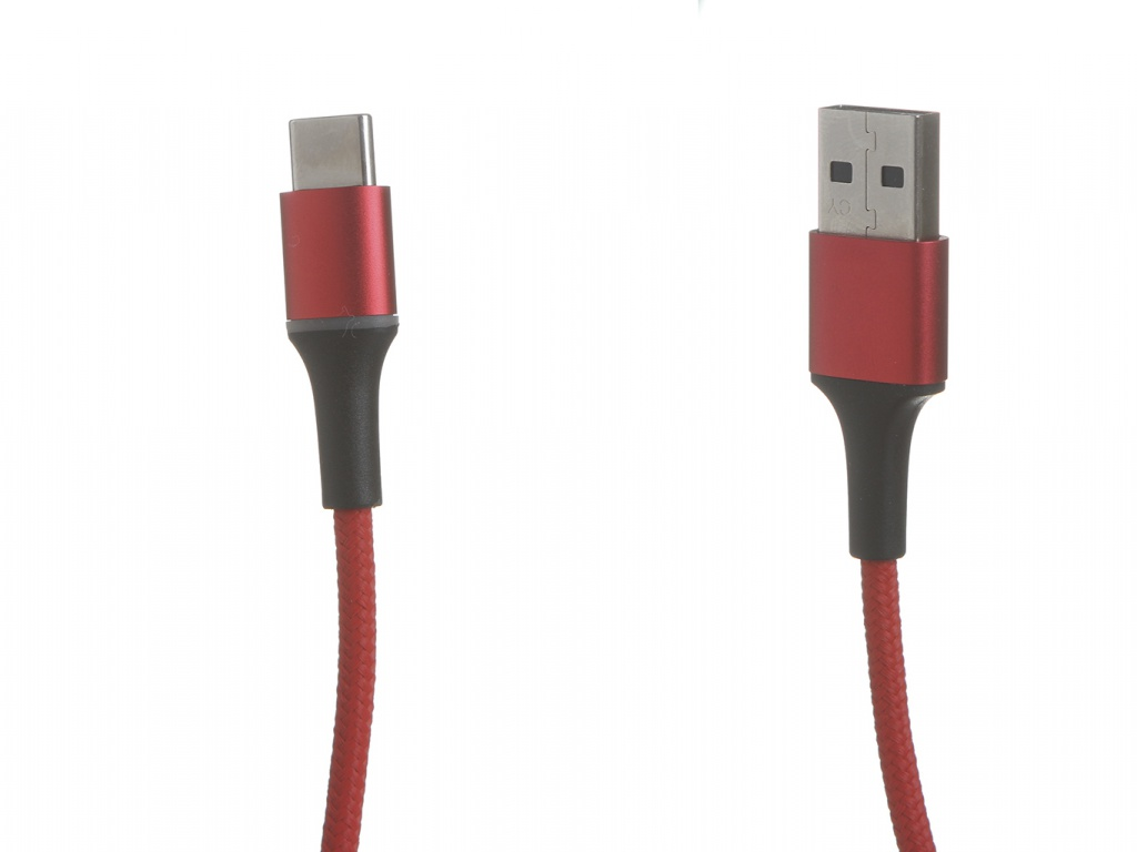 Фото - Аксессуар Baseus Halo USB - USB Type-C 3A 1m Red CATGH-B09 аксессуар baseus purple ring hw quick charging usb type c 40w 1m black catzs 01