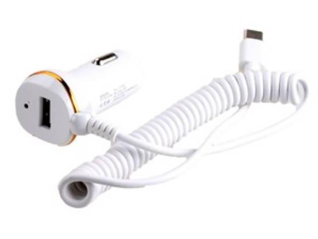 Зарядное устройство Exployd 1хUSB + Type-C 1.4m 2.1А White EX-Z-246