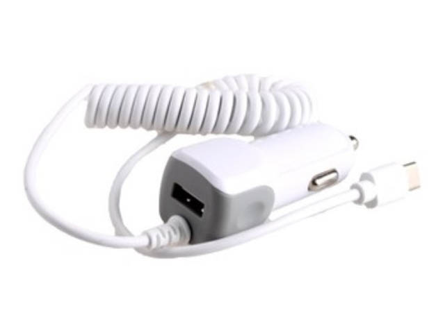 Зарядное устройство Exployd 1хUSB + Type-C 1.4m 2.1А White EX-Z-240