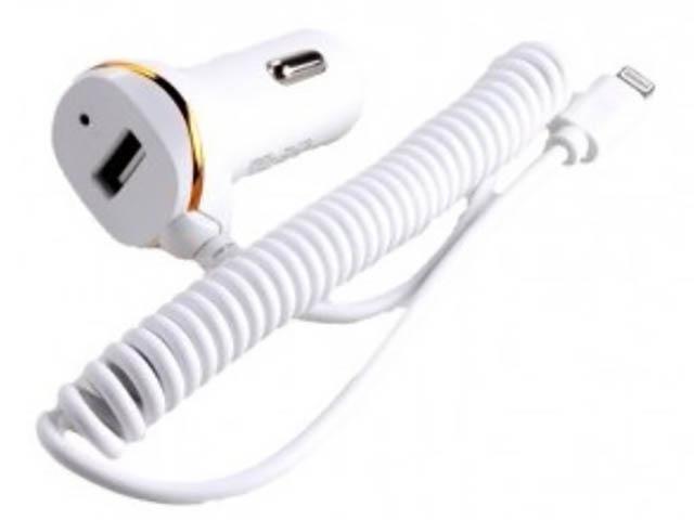 Зарядное устройство Exployd 1хUSB + Lightning 1.4m 2.1А White EX-Z-248